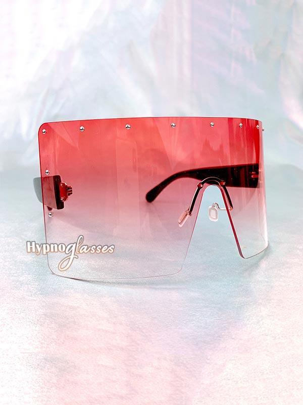 Defender Oversized Shield Sunglasses Pink 2