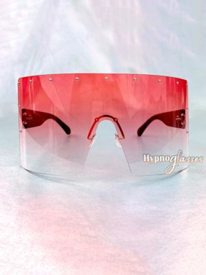 Defender Oversized Shield Sunglasses Pink