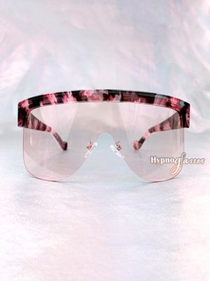 Akira Oversized Shield Sunglasses Pink Camo 1