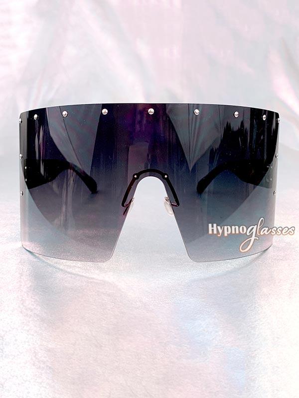 Defender Oversized Shield Sunglasses Black 1