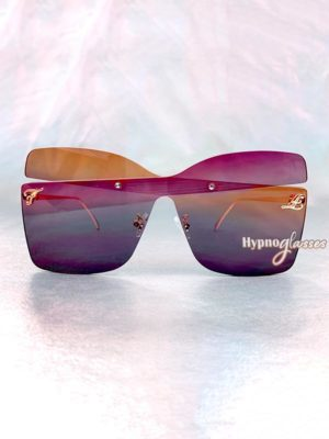 Farfalla Oversized Butterfly Sunglasses Purple 1