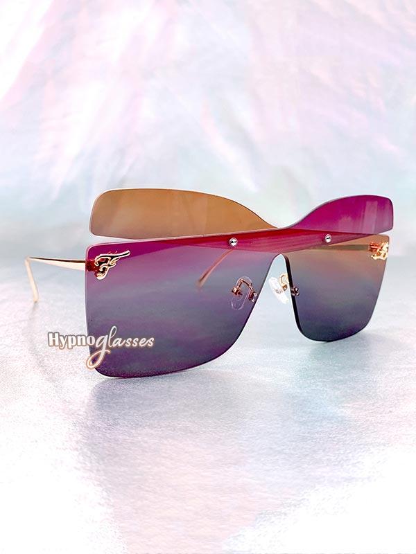 Farfalla Oversized Butterfly Sunglasses Purple 2