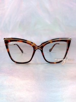 Liana Oversized Cat Eye Glasses Leopard 1