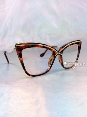 Liana Oversized Cat Eye Glasses Leopard 2