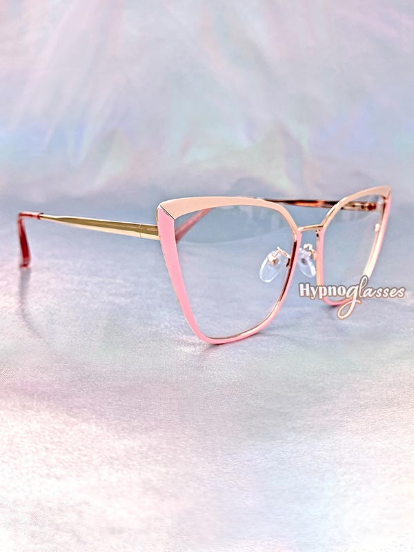 Clio Cat Eye Glasses Pink 2