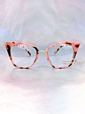 Dara Cat Eye Glasses Pink Leopard 1