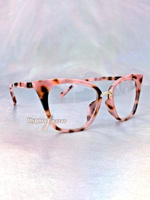 Dara Cat Eye Glasses Pink Leopard 2
