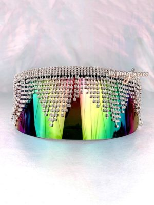 Glory Rhinestone Shield Sunglasses Multicolor 1