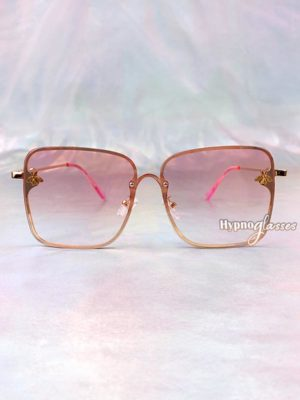 Rose Square Sunglasses Pink 1
