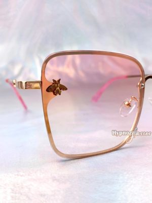Rose Square Sunglasses Pink 3
