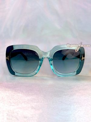 Aventura Oversized Square Sunglasses Blue 1