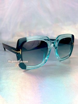 Aventura Oversized Square Sunglasses Blue 2