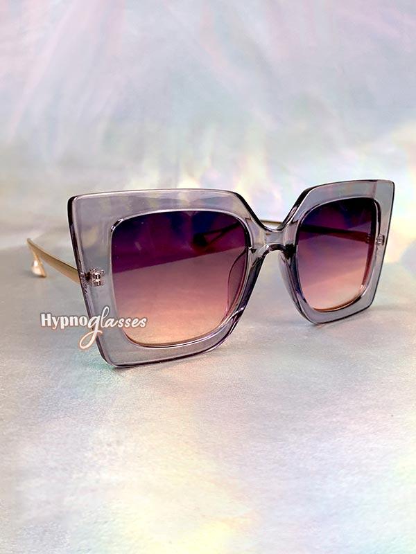 Stella Butterfly Oversized Sunglasses Purple 2