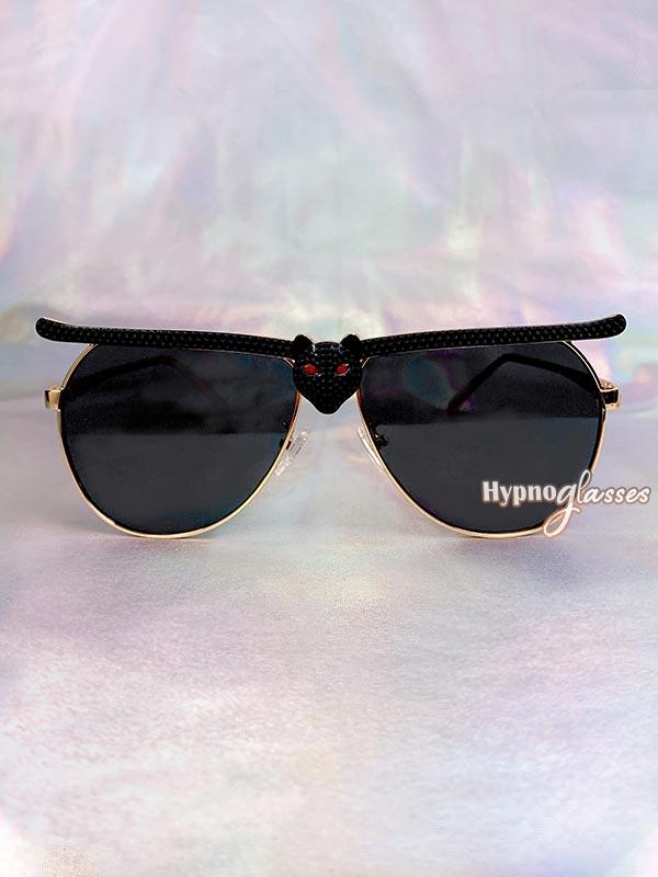 Bat Halloween Aviator Sunglasses Black 1