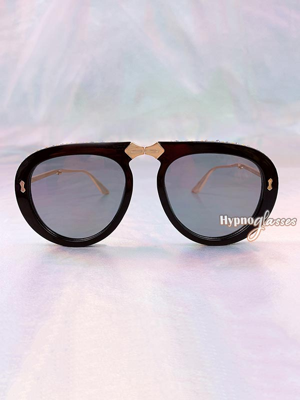Couture Foldable Aviator Sunglasses Gray 1