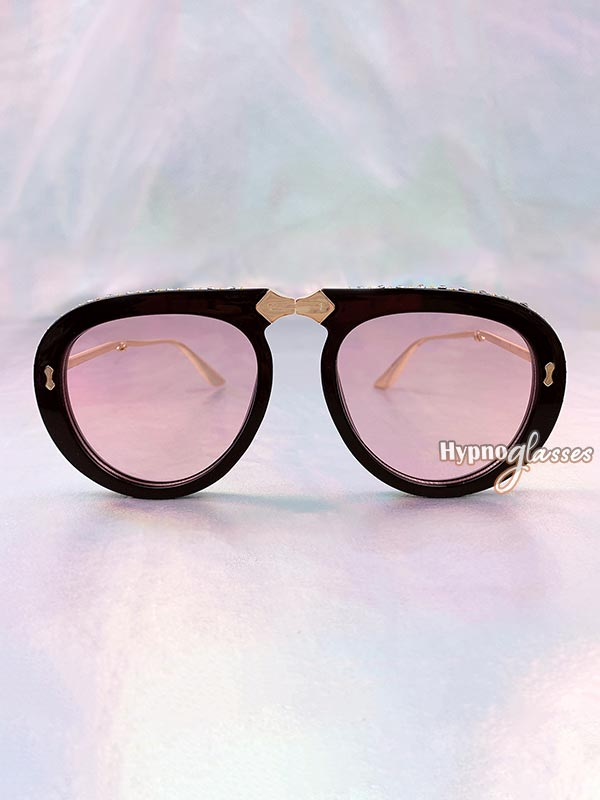Couture Foldable Aviator Sunglasses Pink 1