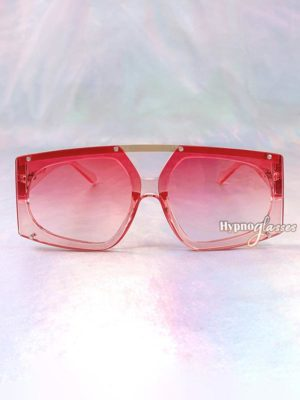 Freccia Geometric Oversized Sunglasses Pink 1