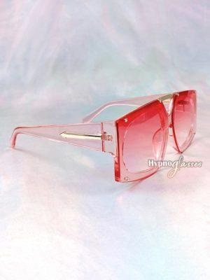 Freccia Geometric Oversized Sunglasses Pink 2