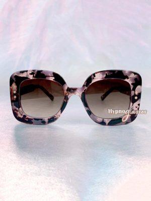 Jasmine Square Oversized Sunglasses Pink Leopard 1