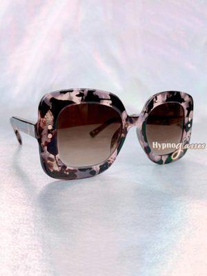 Jasmine Square Oversized Sunglasses Pink Leopard 3