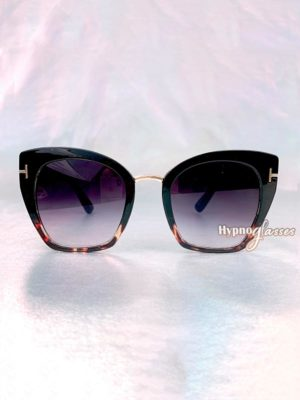 Julie Cat Eye Sunglasses Black Leopard 1