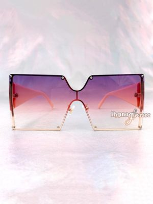 Leto Oversized Square Sunglasses Purple 1