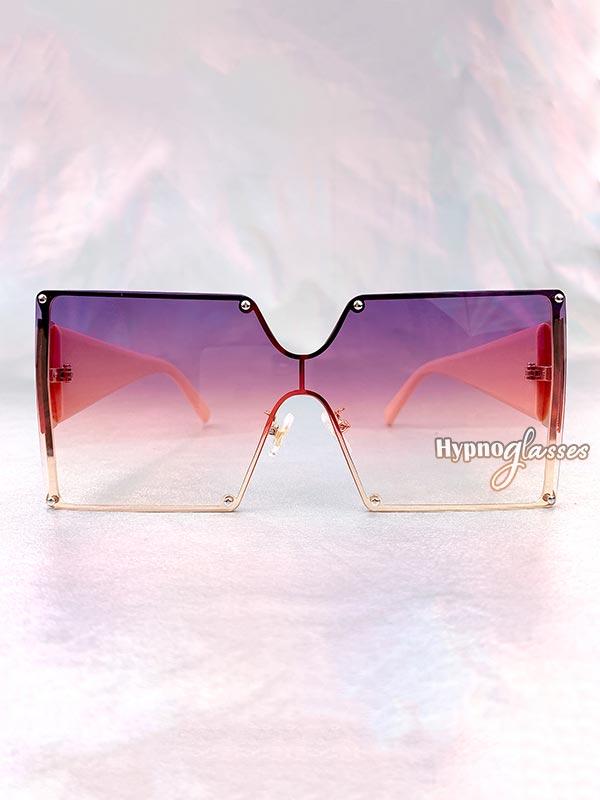 Leto Oversized Square Sunglasses Purple 1