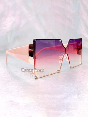 Leto Oversized Square Sunglasses Purple 2